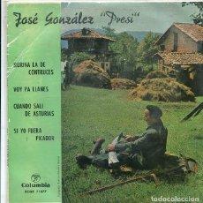 Discos de vinilo: JOSE GONZALEZ PRESI / SIDRINA LA DE CONTRUCES + 3 (EP COLUMBIA 1963). Lote 289215738