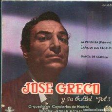 Discos de vinilo: JOSE GRECO / LA PETENERA + 3 (EP HISPAVOX 1961). Lote 289215913