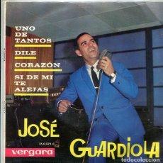 Discos de vinilo: JOSE GUARDIOLA / UNO DE TANTOS + 3 (EP VERGARA 1963). Lote 289216828
