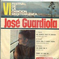 Discos de vinilo: JOSE GUARDIOLA (VI FESTIVAL DE LA CANCION MEDITERRANEA) HE SABIDO QUE TE AMABA + (EP VERGARA 1964). Lote 289217178