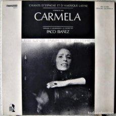 Discos de vinilo: CARMELA CON PACO IBAÑEZ.LES UNS PAR LES OTRES...CANTOS DE ESPAÑA Y AMERICA LATINA...EX. Lote 289217673