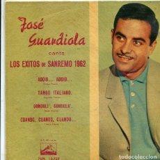 Discos de vinilo: JOSE GUARDIOLA (SAN REMO 1962) ADDIO...ADDIO + 3 (EP LA VO DE SU AMO 1962). Lote 289217758