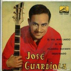 Discos de vinilo: JOSE GUARDIOLA / EL DIAMAS LARGO + 3 (EP LA VOZ DE SU AMO 1962). Lote 289218773