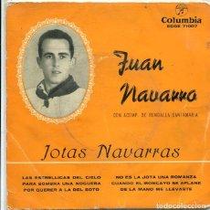 Discos de vinilo: JUAN NAVARRO (JOTAS NAVARRAS) / LAS ESTRELLICAS DEL CIELO + OTRAS (EP COLUMBIA 1959). Lote 289220958