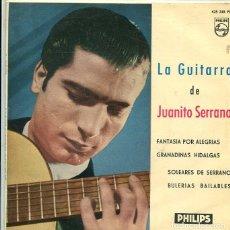 Discos de vinilo: JUANITO SERRANO / FANTASIA POR ALEGRIAS + 3 (EP PHILIPS 1960). Lote 289221163