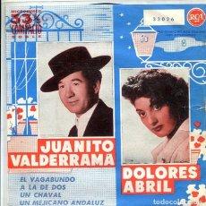 Discos de vinilo: JUANITO NAVARRO Y DOLORES ABRIL / EL VAGABUNDO + 3 (EP RCA 1960). Lote 289221398