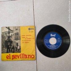 Discos de vinilo: EL SEVILLANO. -. POBRE CORAZON. Lote 289221593