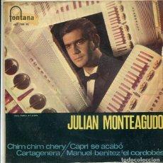 Discos de vinilo: JULIAN MONTEAGUDO (ACORDEON) / CHIM CIM CHERY + 3 (EP FONTANA 1968). Lote 289222148