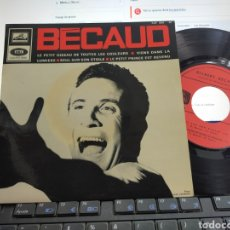 Discos de vinilo: BECAUD EP SEUL SUR SON ETOILE + 3 FRANCIA. Lote 289233828
