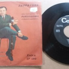 Discos de vinilo: CLAUDIO VILLA / ZAPPATORE / SINGLE 7 INCH. Lote 289237533