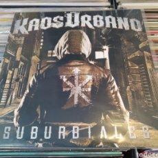 Discos de vinilo: KAOS URBANO–SUBURBIALES . LP VINILO NUEVO. PUNK OI.. Lote 289238888
