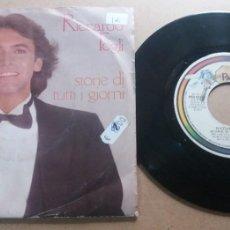 Discos de vinilo: RICCARDO FOGLI / STORIE DI TUTTI I GIORNI / SINGLE 7 INCH. Lote 289244753