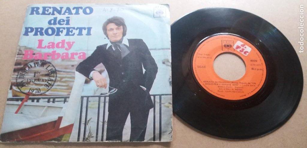 RENATO DEI PROFETI / LADY BARBARA / SINGLE 7 INCH (Música - Discos - Singles Vinilo - Canción Francesa e Italiana)