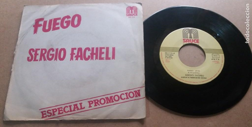 SERGIO FACHELI / FUEGO / SINGLE 7 INCH (Música - Discos - Singles Vinilo - Canción Francesa e Italiana)