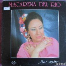 Discos de vinilo: LP - MACARENA DEL RIO - MIS COPLAS (SPAIN, COLISEUM 1990). Lote 289256303