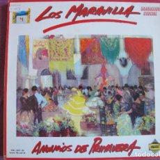 Discos de vinilo: LP SEVILLANAS - LOS MARAVILLA - ANUNCIOS DE PRIMAVERA (SPAIN, DISCOS PASARELA 1989). Lote 289256933