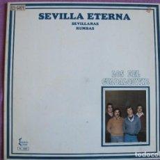 Discos de vinilo: LP SEVILLANAS - LOS DEL GUADALQUIVIR - SEVILLA ETERNA (SPAIN, DISCOS IZQUIERDO 1981, PORTADA DOBLE). Lote 289257933