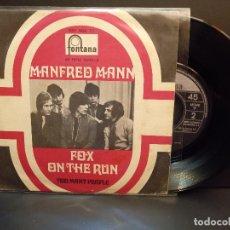 Discos de vinilo: MANFRED MANN FOX ON THE RUN SINGLE SPAIN 1968 PDELUXE. Lote 289263193
