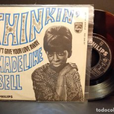 Discos de vinilo: MADELINE BELL THINKIN' SINGLE SPAIN 1968 PDELUXE. Lote 289263408