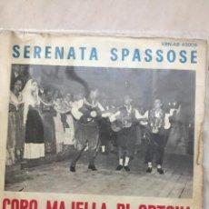 Discos de vinilo: CORO MAJELLA DI ORTONA SERENATA SPASSOSE. Lote 289269258