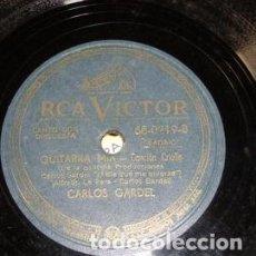 Discos de vinilo: PASTA CARLOS GARDEL RCA VICTOR 680219 32239 32457 VC47. Lote 289288608