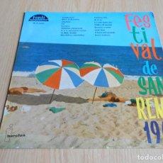 Discos de vinilo: FESTIVAL DE SAN REMO 1961 - VARIOS -, LP, RENATINO - 24 MILA BACI + 15, AÑO 1961. Lote 289299608
