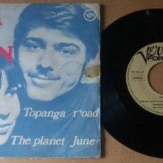 Discos de vinilo: JIM & JEAN / TOPANGA ROAD / SINGLE 7 INCH. Lote 289302268