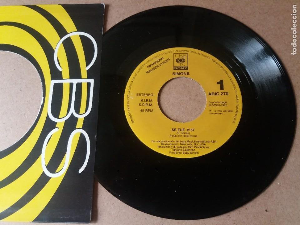 SIMONE / SE FUE / SINGLE 7 PULGADAS (Música - Discos - Singles Vinilo - Pop - Rock Internacional de los 90 a la actualidad)