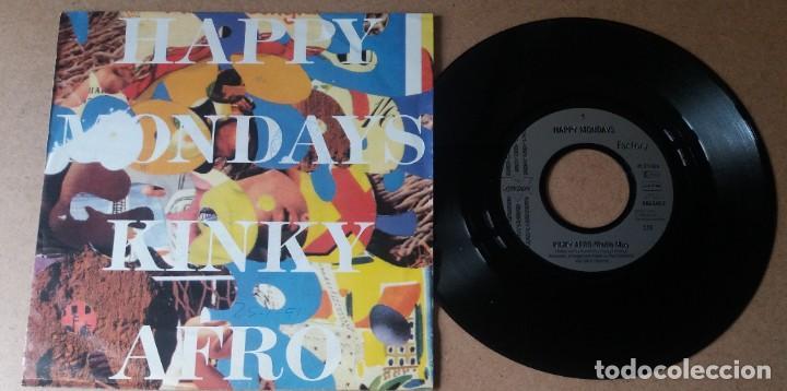 HAPPY MONDAYS / KINKY AFRO / SINGLE 7 PULGADAS (Música - Discos - Singles Vinilo - Pop - Rock Internacional de los 90 a la actualidad)