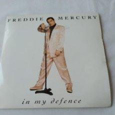Discos de vinilo: FREDDIE MERCURY,IN MY DEFENCE,DISCO PROMOCIONAL. Lote 289320843
