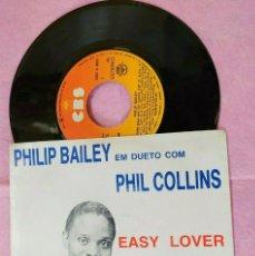 "Discos de vinilo: 7"" PHILIP BAILEY & PHIL COLLINS - EASY LOVER - CBS A4915 - PORTUGAL PRESS (VG+/VG+). Lote 289323473"