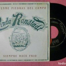 """Discos de vinilo: 7"""" LINDA RONSTADT SIEMPRE HACE FRIO - ELEKTRA 1.424 -PROMO SPAIN PRESS (EX-/EX-). Lote 289326873"""