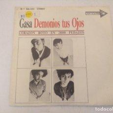 Discos de vinilo: DEMONIOS TUS OJOS/CORAZON ROTO EN 2000 PEDAZOS/SINGLE PROMOCIONAL.. Lote 289329138
