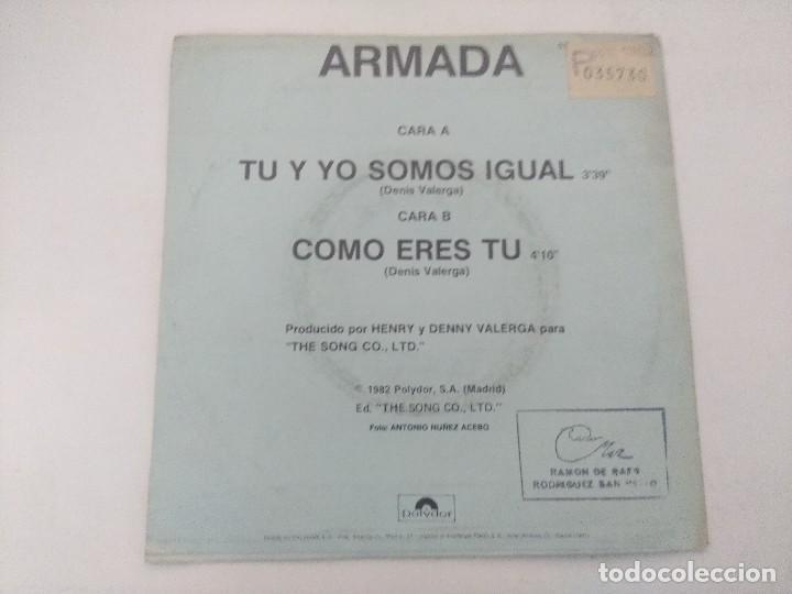 Discos de vinilo: ARMADA/TU Y YO SOMOS IGUAL/SINGLE PROMOCIONAL. - Foto 3 - 289329423