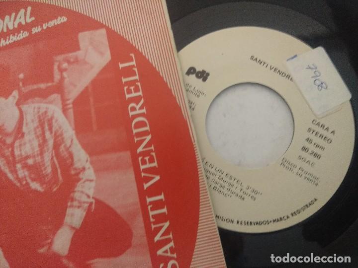 Discos de vinilo: SANTI VENDRELL/UN PETO EN UN ESTEL/SINGLE PROMOCIONAL. - Foto 2 - 289330103