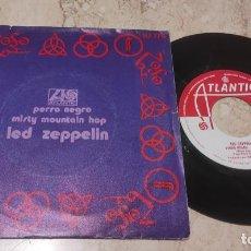 Discos de vinilo: LED ZEPPELIN / PERRO NEGRO / EDICIÓN ESPAÑOLA / HISPAVOX 1971. Lote 289331723
