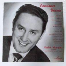 Discos de vinilo: CANCIONES VASCAS. CARLOS MUNGUIA. LP. TDKDA46. Lote 289333893