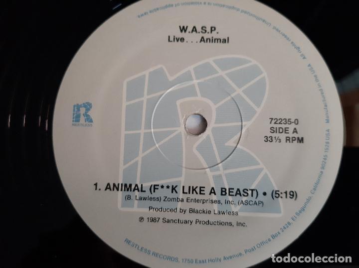 Discos de vinilo: W.A.S.P. -LIVE...ANIMAL- (1987) EP - Foto 2 - 289336173