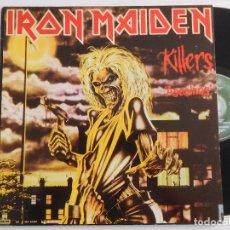 Discos de vinilo: IRON MAIDEN. LP KILLERS ASESINOS. EDICIÓN ORIGINAL ESPAÑOLA DEL 1981. Lote 289340453