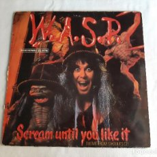 Discos de vinilo: W.A.S.P. -SCREAM UNTIL YOU LIKE IT (THEME FROM 'GHOULIES II')- (1987) MAXI-SINGLE. Lote 289342153