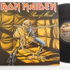 Discos de vinilo: IRON MAIDEN. LP. PIECE OF MIND. EDICIÓN ORIGINAL ESPAÑOLA PROMOCIONAL DEL 1983 PROMO. Lote 289343968