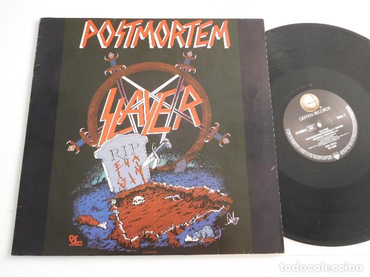 SLAYER. 12 SINGLE. POSMORTEM. EDICIÓN ORIGINAL ALEMANA DEL 1986 (Música - Discos de Vinilo - Maxi Singles - Heavy - Metal)