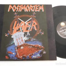 Discos de vinilo: SLAYER. 12 SINGLE. POSMORTEM. EDICIÓN ORIGINAL ALEMANA DEL 1986. Lote 289349448