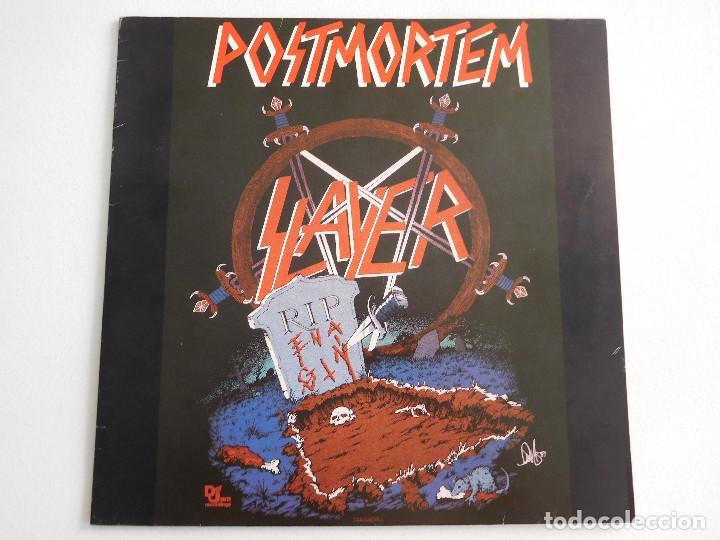 Discos de vinilo: Slayer. 12 Single. Posmortem. Edición original alemana del 1986 - Foto 2 - 289349448