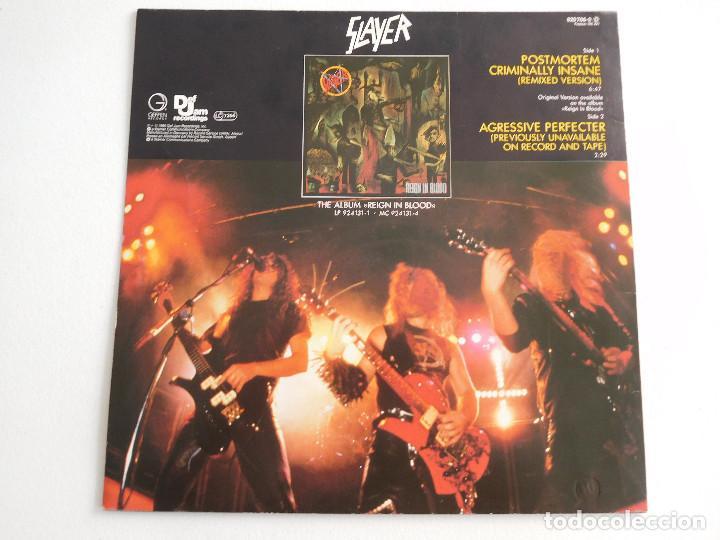 Discos de vinilo: Slayer. 12 Single. Posmortem. Edición original alemana del 1986 - Foto 3 - 289349448