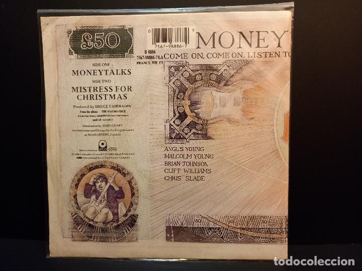 Discos de vinilo: AC/DC MONEYTALKS SINGLE GERMANY 1990 PDELUXE - Foto 2 - 289352738