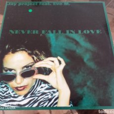 """Discos de vinilo: JAY PROJECT FEAT. EVE M. - NEVER FALL IN LOVE (12""""). Lote 289352938"""