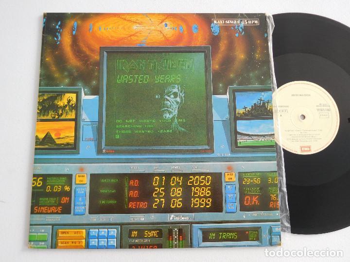 IRON MAIDEN. 12 SINGLE. WASTED YEARS. EDICIÓN ORIGINAL ESPAÑOLA DEL 1986 (Música - Discos de Vinilo - Maxi Singles - Heavy - Metal)
