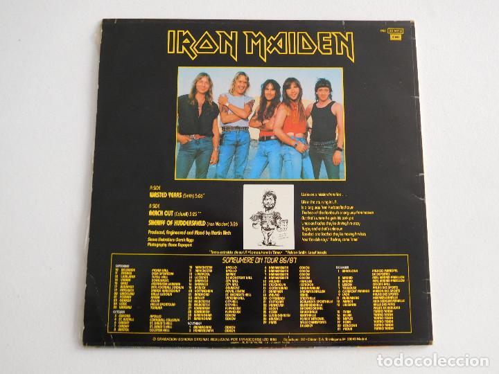 Discos de vinilo: Iron Maiden. 12 Single. Wasted years. Edición original española del 1986 - Foto 3 - 289353763