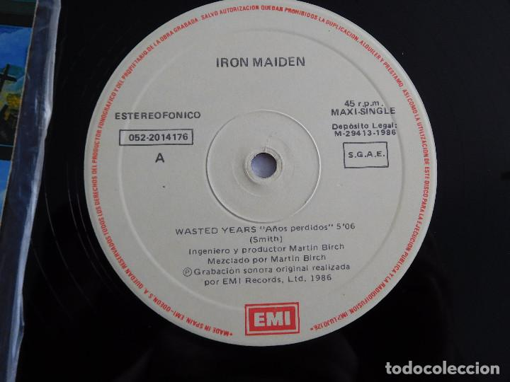 Discos de vinilo: Iron Maiden. 12 Single. Wasted years. Edición original española del 1986 - Foto 8 - 289353763